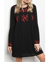 Black/red Embroidery Dress