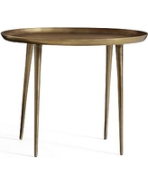 Euclid Oval Accent Table, Brass