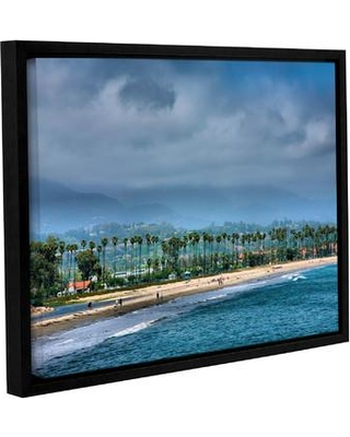 """ArtWall The Beach at Santa Barbara by Steve Ainsworth Framed Photographic Print on Wrapped Canvas JJM6980 Size: 18"""" H x 24"""" W"""