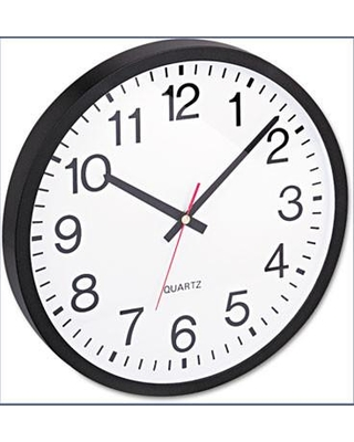 """Universal Products 12.5"""" Wall Clock UNV10431"""