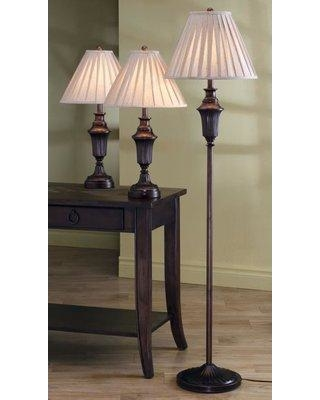 Astoria Grand Roosevelt Athens 3 Piece Table and Floor Lamp Set ASTG1443