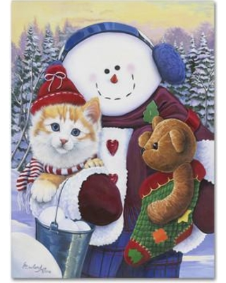 "Trademark Art 'Winter Wonder Pals' Graphic Art on Wrapped Canvas ALI1984-C Size: 32"" H x 24"" W x 2"" D"