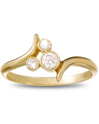 Diamond Mickey Mouse Icon Bypass Ring 18K Yellow Gold Official shopDisney