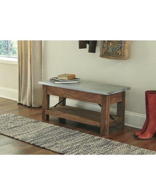 Great Deal On Gracie Oaks Condrey Storage Bench Wood Solid Manufactured Wood Solid Wood In Brown Size 18 H X 40 W X 17 D Wayfair
