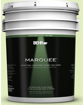 BEHR MARQUEE 5 gal. #420A-2 Spirit Whisper Semi-Gloss Enamel Exterior Paint and Primer in One