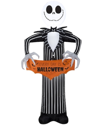 5Ft Airblown® Inflatable Disney Jack Skellington with Banner By Gemmy Industries   Michaels®