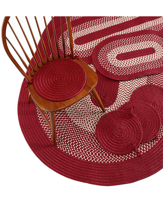 Colonial Mills All-American 7-pc. Reversible Braided Rug Set, 7-PIECE, Red