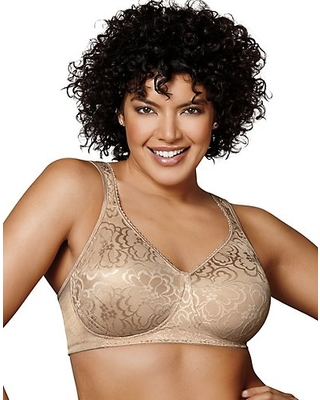 Playtex 18 Hour 4745 Ultimate Lift & Support Wirefree Bra Nude 44G