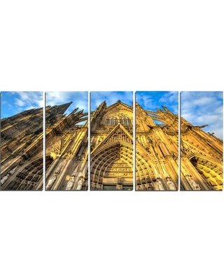 'Dom Church in City Cologne Lit by Sun' 5 Piece Photographic Print on Wrapped Canvas Set Design Art