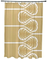 Bay Isle Home Sigsbee Fern 1 Floral Print Shower Curtain BAYI2132 Color: Gold
