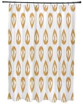 Mistana Bridgehampton Ikat Tears Geometric Print Shower Curtain MTNA2891 Color: Gold