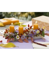 Northlight 'Floral and Berries Candle Centerpiece' Photographic Print on Canvas NORTHLIGHT NJ37320