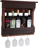 Wall Mounted Wine Rack with Shelf Western Red Clear Oil Finish - Red Cedar - Gronomics
