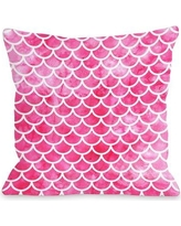 """Highland Dunes Nunberg Mermaid Scales Throw Pillow BF055156 Size: 18"""" x 18"""", Color: Pink"""