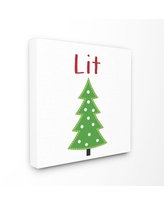 The Stupell Home Decor Collection Lit Christmas Tree Icon Stretched Canvas Wall Art
