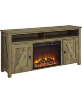 Farmington Electric Fireplace TV Console for TVs up to 60 - Light Rustic Pine - Ameriwood Home