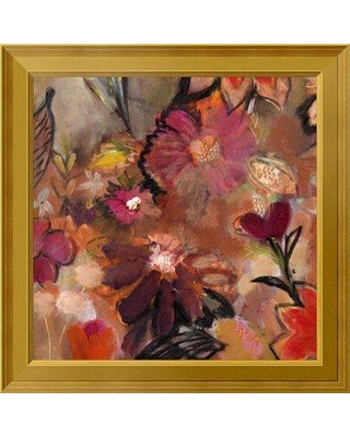 """East Urban Home 'Garden of a Joyful Day BL' Framed Oil Painting Print on Canvas EUAH7455 Size: 24"""" H x 24"""" W Matte Type: Ivory"""