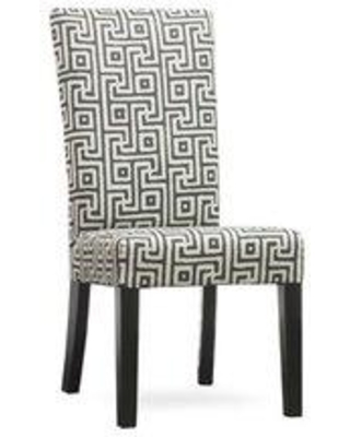 Uniquely Furnished Kristen Upholstered Dining Chair 330- Body Fabric: Greece Domino