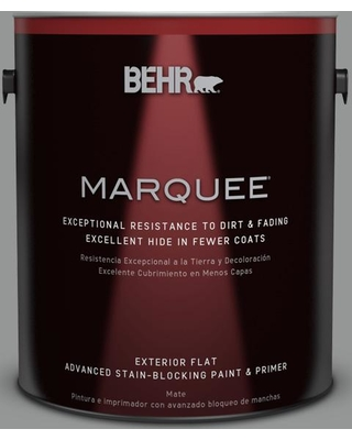 BEHR MARQUEE 1 gal. #PPU24-19 Shark Fin Flat Exterior Paint and Primer in One