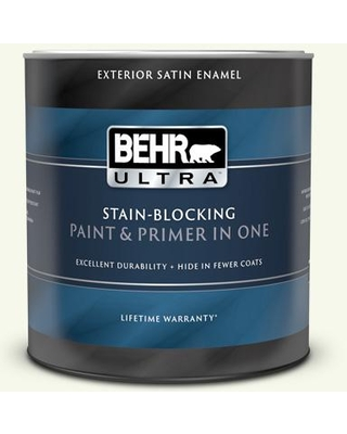 BEHR ULTRA 1 qt. #BXC-29 Stately White Satin Enamel Exterior Paint and Primer in One