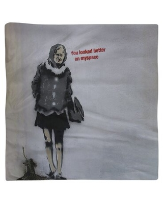"""Old Woman Dinner Napkin East Urban Home Size: 22"""" x 22"""", Material: Cotton Twill"""