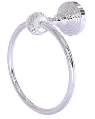 Allied Brass Pacific Beach Towel Ring PG-16T- Finish: Polished Chrome