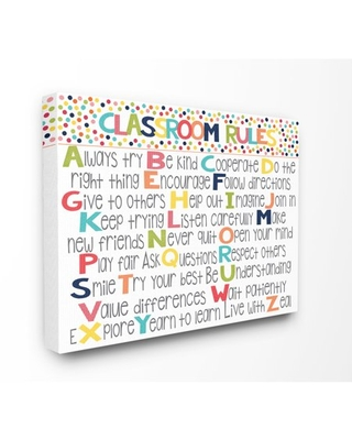 The Kids Room by Stupell Classroom Rules Colorful Alphabet Canvas Wall Art by Alli Rogosich