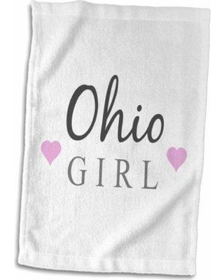 Symple Stuff Hirst Ohio Girl Home State Pride USA Hand Towel W000455390
