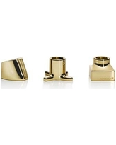 Everly Quinn Bradi 3 Piece Toothbrush Holder EYQN5259 Color: Gold