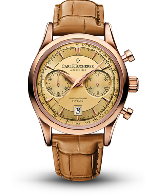 Carl F. Bucherer Manero Flyback Chronograph Automatic Champagne Dial Watch 00.10919.03.43.01