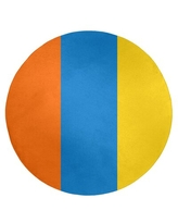 Here S A Great Deal On Miami Striped Orange Blue White Area Rug East Urban Home Rug Size Round 5