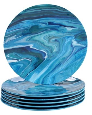 Sales On Isabeau Fluidity 9 Melamine Salad Plate Rosecliff Heights