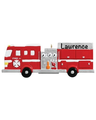 Fire Engine Hanging Figurine Ornament The Holiday Aisle®