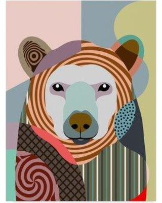 "Trademark Fine Art 'Hunting Polar Bear' Graphic Art Print on Wrapped Canvas ALI31134-CGG Size: 24"" H x 18"" W x 2"" D"