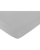 Sweet Jojo Designs Trellis Solid Fitted Crib Sheet CribSheet-Trellis-GY-WH-GRAY Color: White and Gray