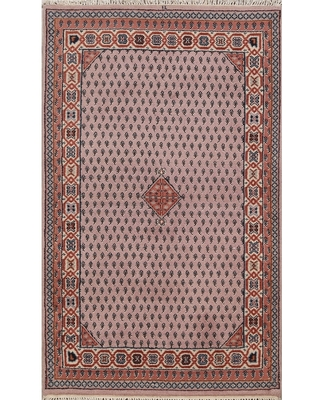 """Paisley Botemir Oriental Foyer Area Rug Hand-knotted Wool Carpet - 3'10"""" x 5'11"""" (3'10"""" x 5'11"""" - Pink)"""