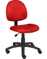 Microfiber Deluxe Posture Chair Red - Boss Office Products