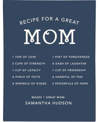Personalized RedEnvelope Mom's Recipe Gallery Wall Art 12x16 and 18x24