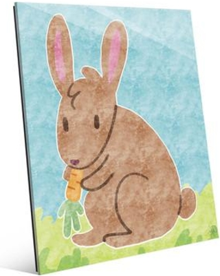 """Click Wall Art 'Hungry Hare' Graphic Art on Plaque KDG0000005GLS Size: 10"""" H x 8"""" W x 1"""" D"""