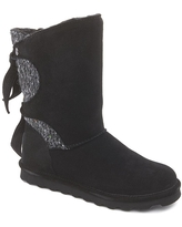 BEARPAW® Willow Suede Tie Detail Boot with NeverWet™ - Ivory/Off White
