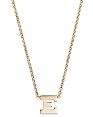 Zoe Chicco 14K Yellow Gold Initial Necklace, 16