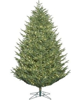 The Holiday Aisle 7.5' Green Fir Artificial Christmas Tree with 900 Warm White LED Lights THLY1180