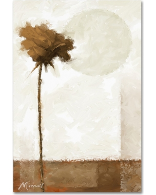 Sepia Rose' by The Macneil Studio Ready to Hang Canvas Wall Art - Bark, Brown
