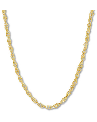 """Jared The Galleria Of Jewelry Singapore Chain Necklace 14K Yellow Gold 18"""""""
