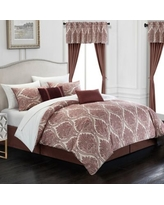 Can T Miss Bargains On Joshuah 8 Piece Queen Comforter Set In Brick