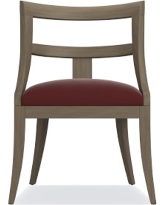 Piedmont Dining Side Chair, Sky Grey, Signature Velvet, Cordovan