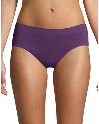 Bali One Smooth U All-Around Smoothing Hipster Panty Berry Bunch 7 Women's
