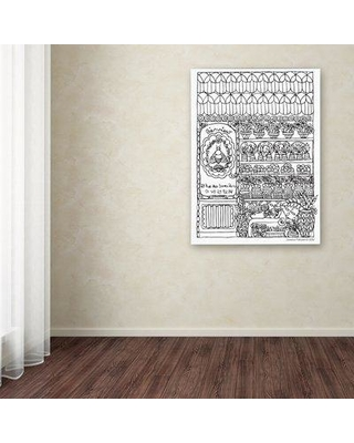 """Trademark Fine Art 'Apiary' Drawing Print on Wrapped Canvas ALI12922-C Size: 32"""" H x 24"""" W"""