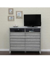 """Bayou Breeze Blaine TV Stand for TVs up to 58"""" Wood in Brown, Size 42.0 H x 52.0 W x 20.0 D in 