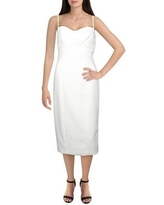Likely Womens Bodycon Dress Lace Trim Knee-Length - White